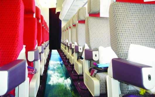 Virgin Atlantic Airlines creates glass bottomed airplane