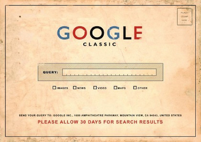 Google Classic: Please Allow 30 Days for your Search Results