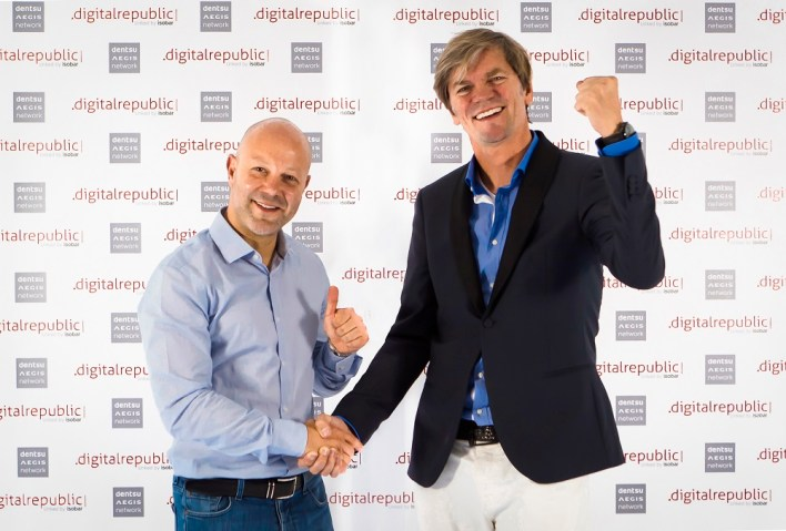 Michael Nederlof, ‎CEO Dentsu Aegis Network and Karim Khalifa, CEO & Founder, Digital Republic