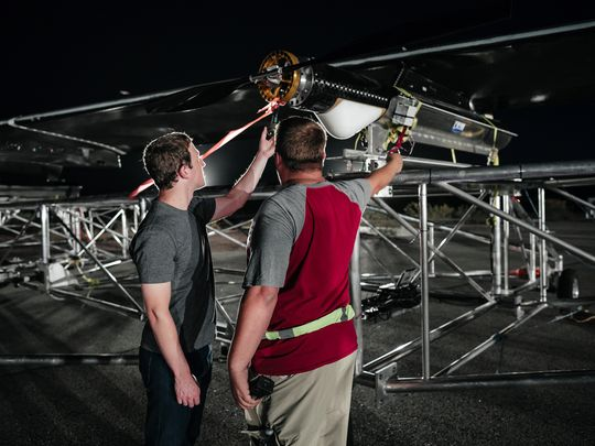 Aquila's mission: to fly miles above the earth — 60,000 feet or more — for up to three months at a time. The current record for solar-powered unmanned flight is two weeks. (Photo: Facebook)