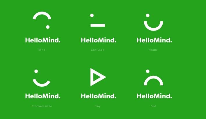 Hello Mind Logo Variations