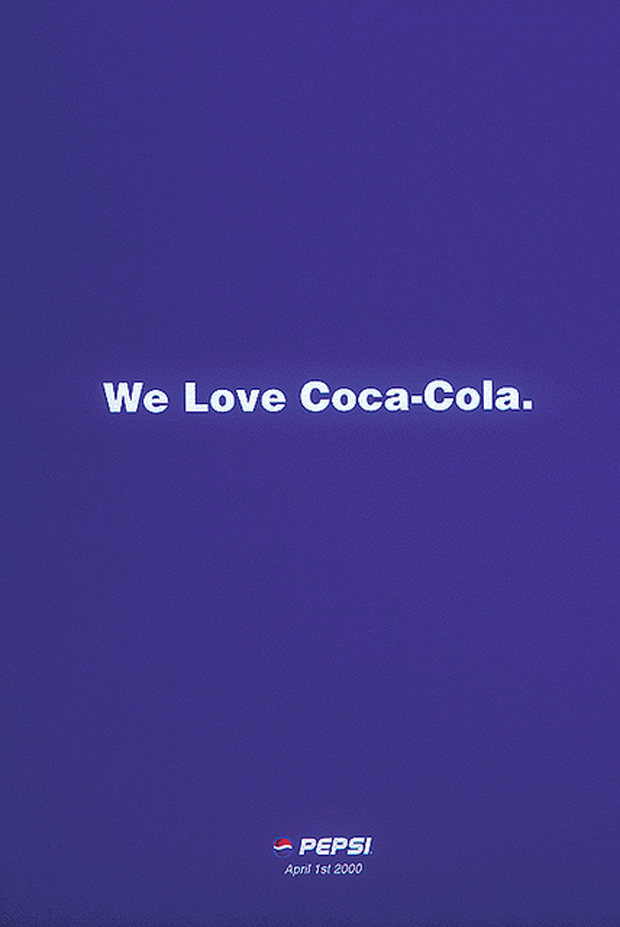 April Fool Poster: We Love Coca-Cola by PEPSI