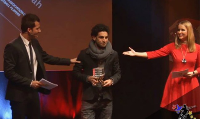 Mohamed Salah wins Swiss Golden Players AWARD for 2012/2013 (Photo: facebook.com/Salah.Official)