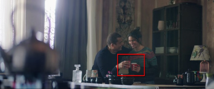 Nescafe red mug featured in Amr Diab's Maak Alby music video