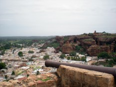 View of the Badami Village and the North Fort from South Fort.