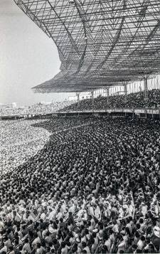 View of the newly-inaugurated Eden Gardens Stadium on the day of the Cricket World Cup final in 1987