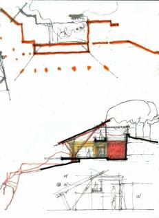 """This is the first really bold sketch of what can happen"" - Koba House 'Schema' sketch by Uday Andhare, 2008"