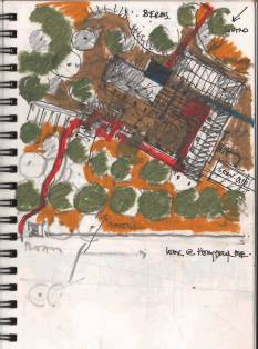 Karamsad House [2005] Drawing by Uday Andhare