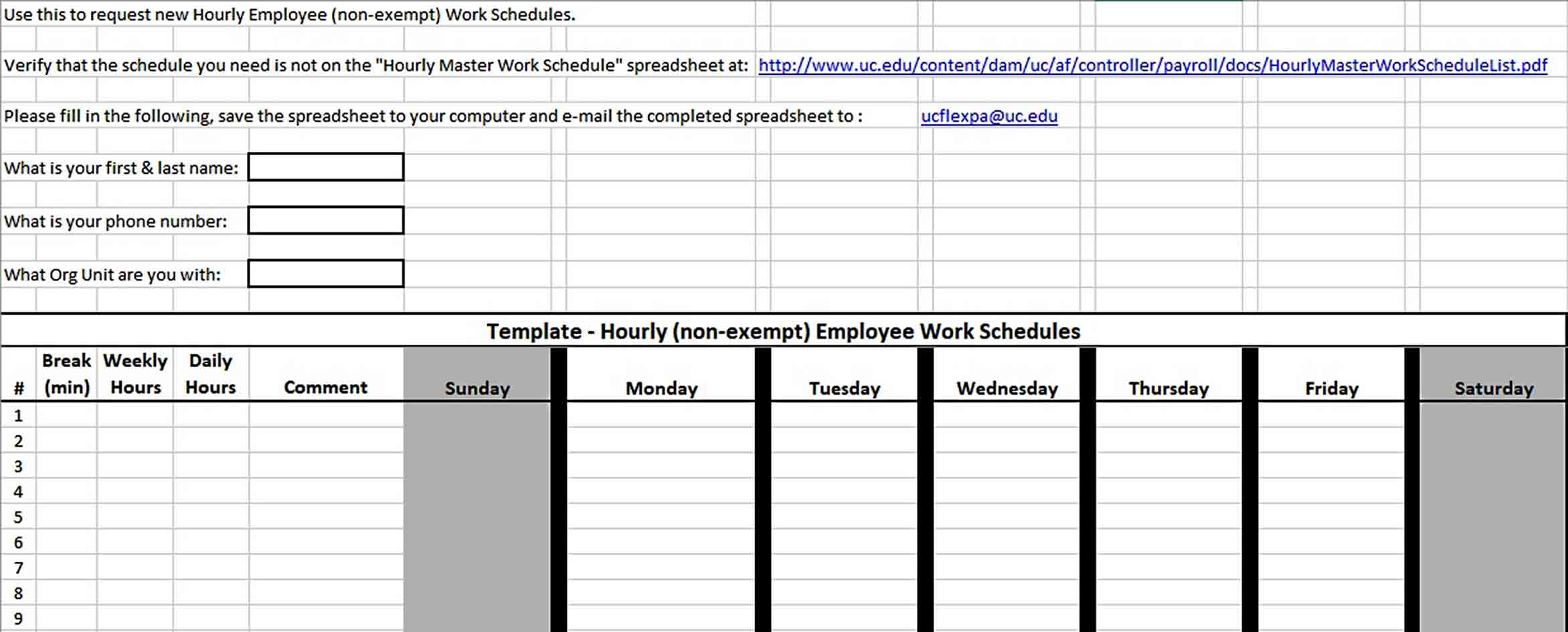 Every employee would like a more flexible schedule. Best Work Schedule Template Think Moldova