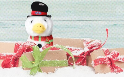 The Aflac Duck was Turned into a Snowman for the Holidays