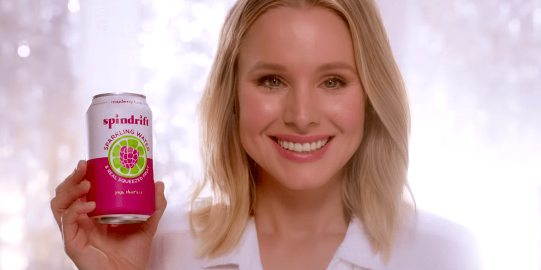 Spindrift Seltzer Water Kristen Bell Marketing