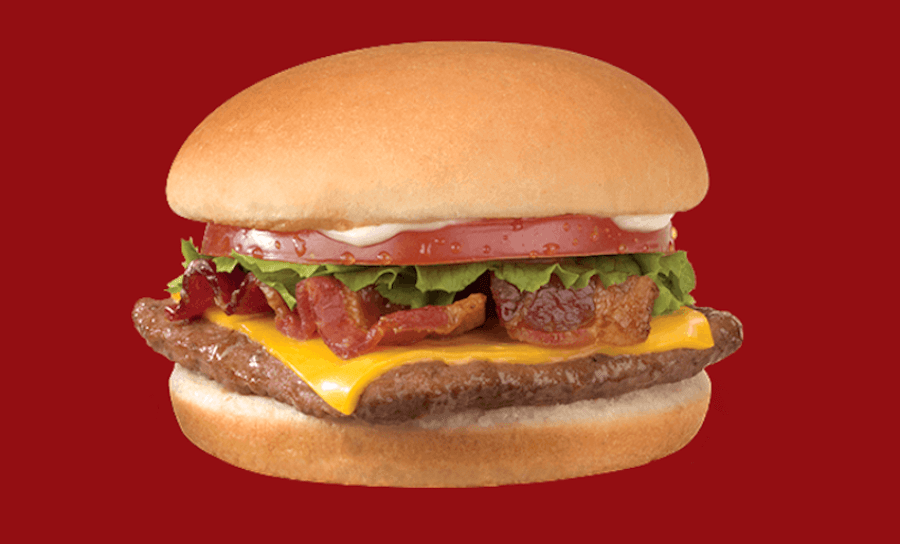 Wendy's Junior Bacon Cheeseburger