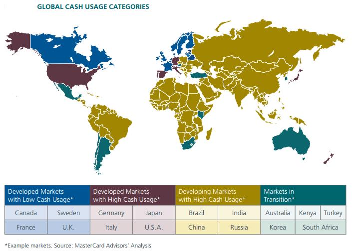 Cash Usage Map