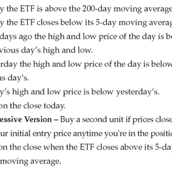 3 Day High Low Strategy Rules - Long Trades