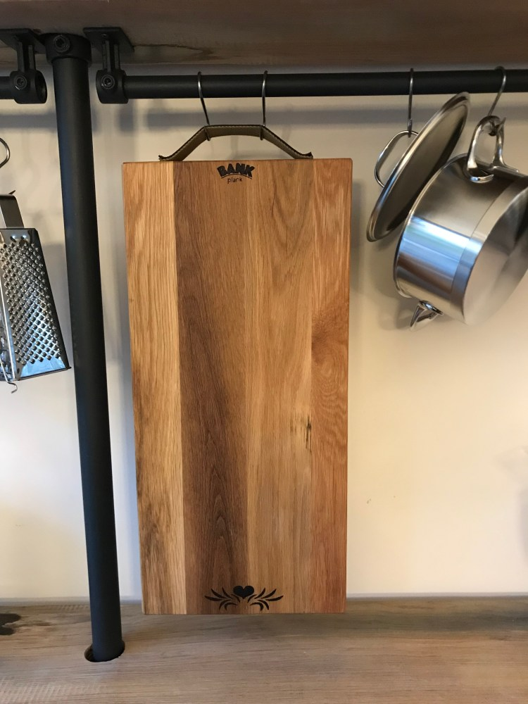 Eating food in style with this large cutting board