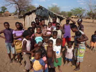 Mozambique was the poorest country we visited. Pot bellies in children are a classic sign of malnutrition.