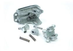 Four separate zinc die castings