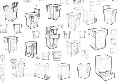 Exploratory sketches for concept 1