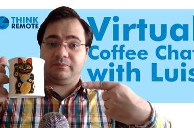 Luis discusses zoom fatigue while having coffee