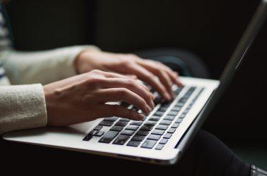 Georgia worker remote work on laptop