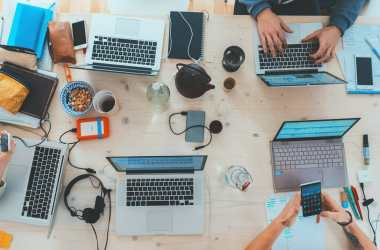 remote work meetup at a coworking space