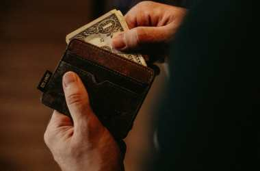 wallet of a permanent remote work employee