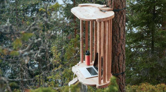 open-air desks
