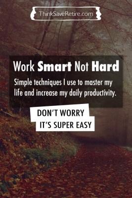 Pinterest: Work smart not hard