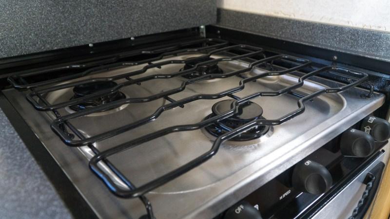 Three-burner stove