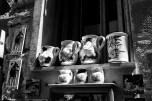 b&w - cinque terre, pottery