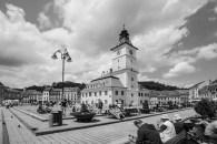 B&W central square, brasov
