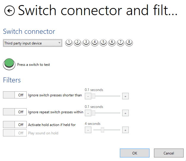 switch connector and filters