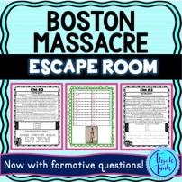 Boston Massacre ESCAPE ROOM picture