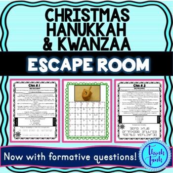 Christmas Hanukkah and Kwanzaa Escape Room picture