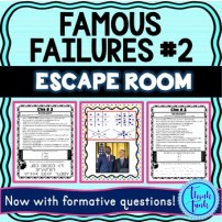 Famous Failures #2 ESCAPE ROOM picture