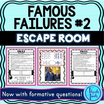Famous Failures #2 ESCAPE ROOM picture