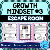 Growth Mindset #3 ESCAPE ROOM picture