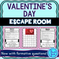 Valentine's Day Escape Room for Educational Classroom