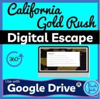 California Gold Rush Digital Escape Room for Educational Classroom