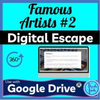 Famous Artists 2 Digital Escape room cover