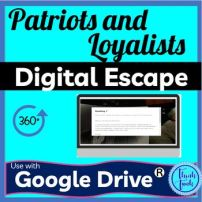 Patriots and loyalists digital escape room picture
