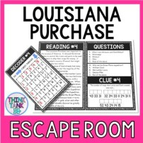 Louisiana Purchase Escape Room Activity picture