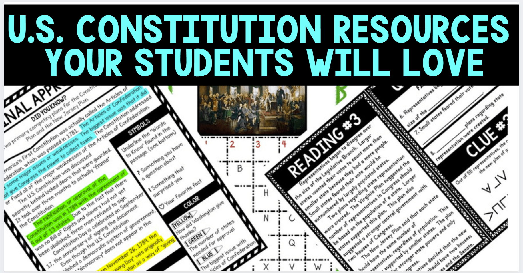 Us Constitution Resources Your Students Will Love