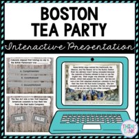Boston Tea Party Interactive Google Slides picture