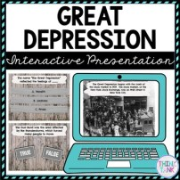 Great Depression Interactive Google Slides picture