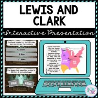 Lewis and Clark Interactive Google Slides picture
