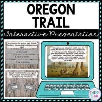 Oregon Trail Interactive Google Slides pic