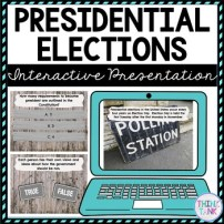 Presidential Election Interactive Google Slides cover