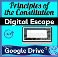 Principles of the U.S. Constitution DIGITAL ESCAPE ROOM picture