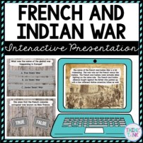 French and Indian War Interactive Google Slides picture